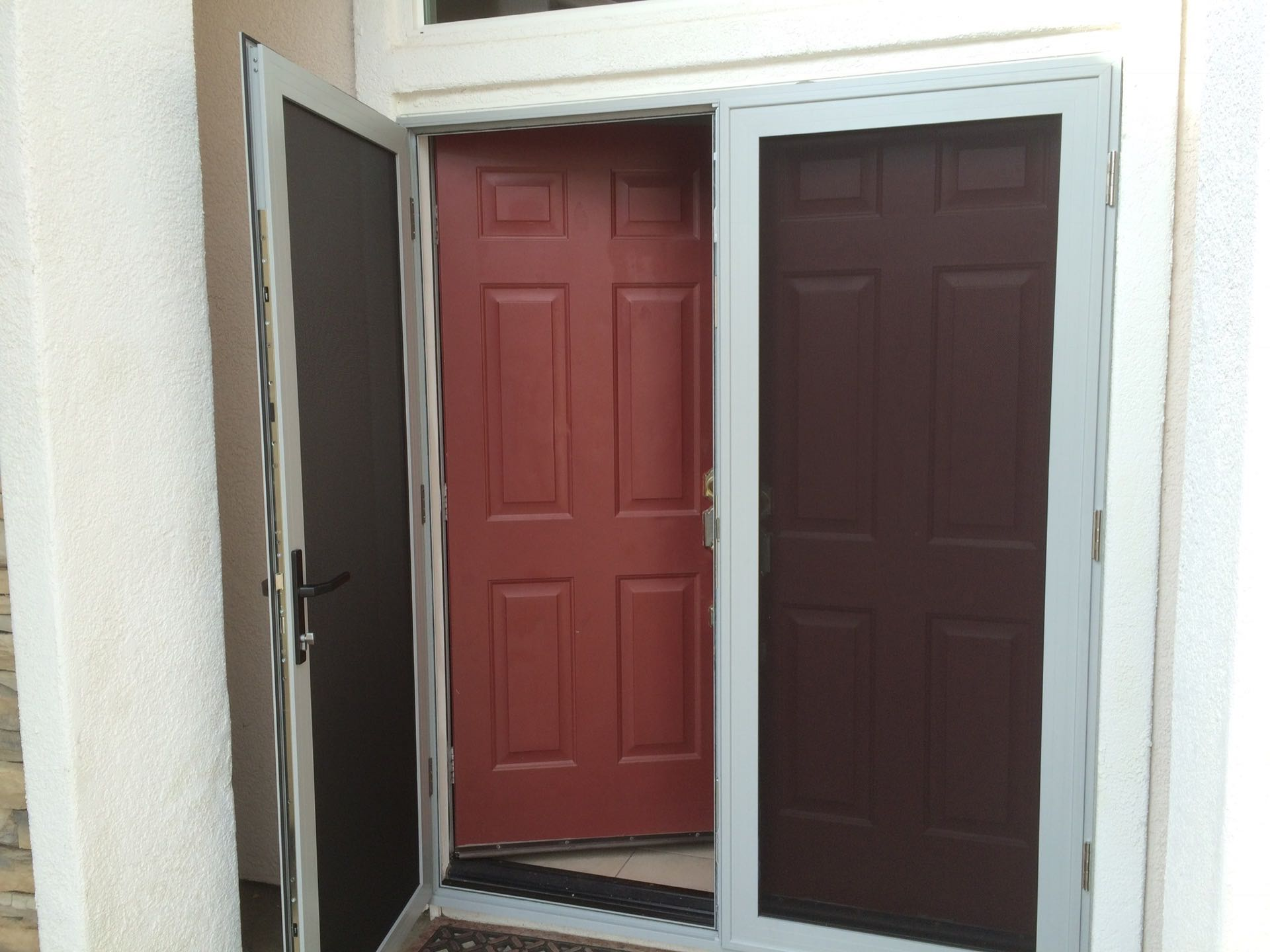 Gray guarda security french door lake elsinore ca for Screen doors for french doors