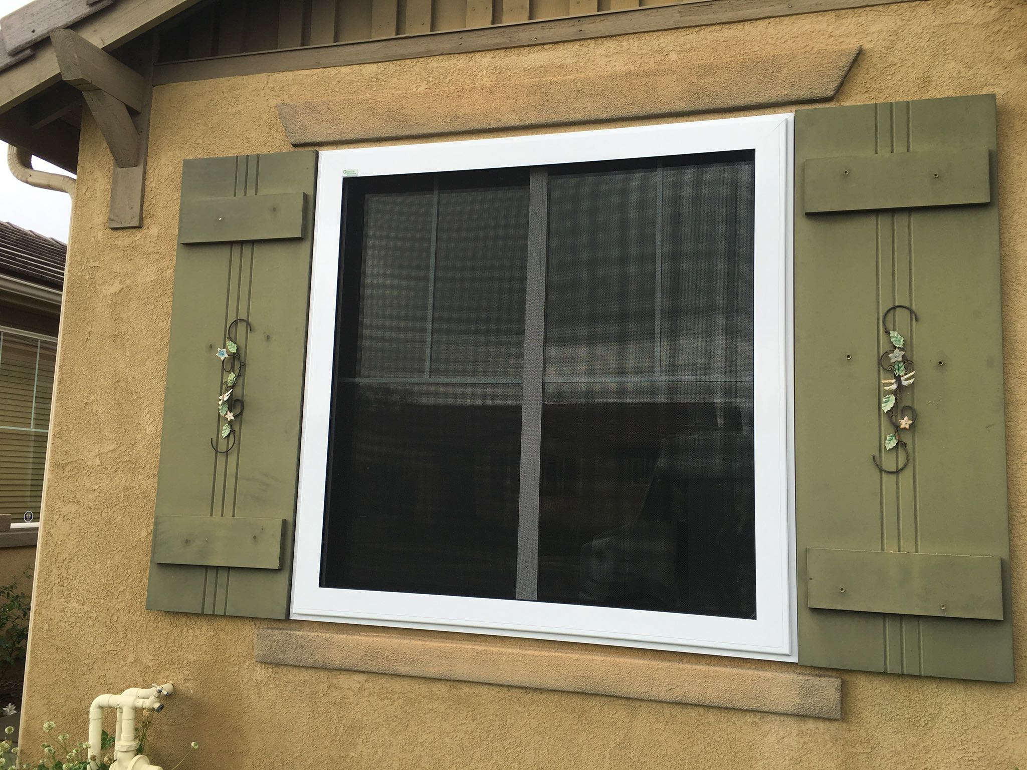 Guarda Security Screens with Quick Release Fire Escape — Menifee, CA