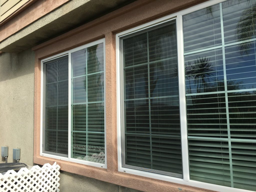 White Window Screen Installation — Temecula, CA