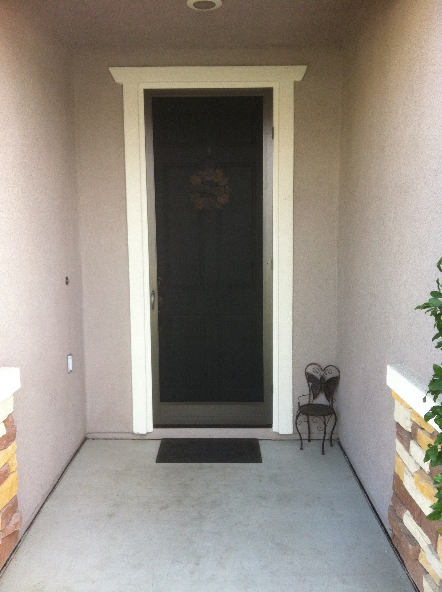 """Vista"" swinging screen door in bronze installed in Temecula 2/4/14"