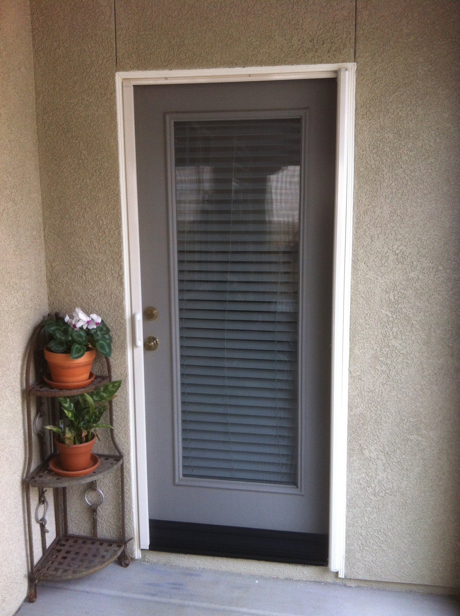 Linen cream mirage retractable screen door menifee ca for Retractable screen door