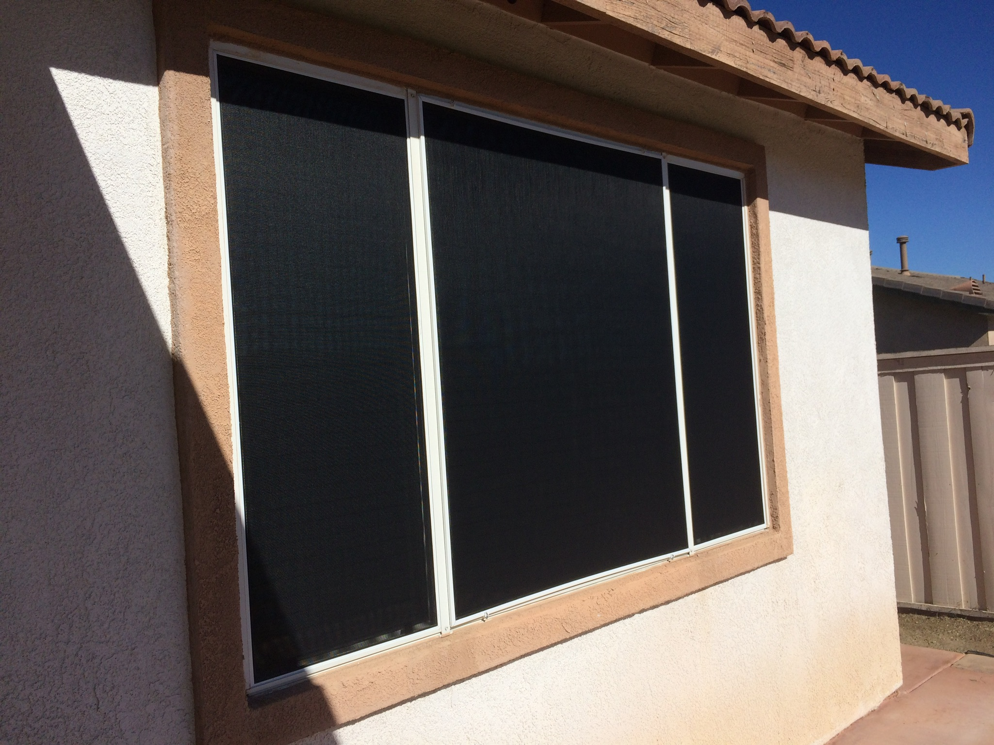 Suntex solar screens installed in Menifee 11/7/14
