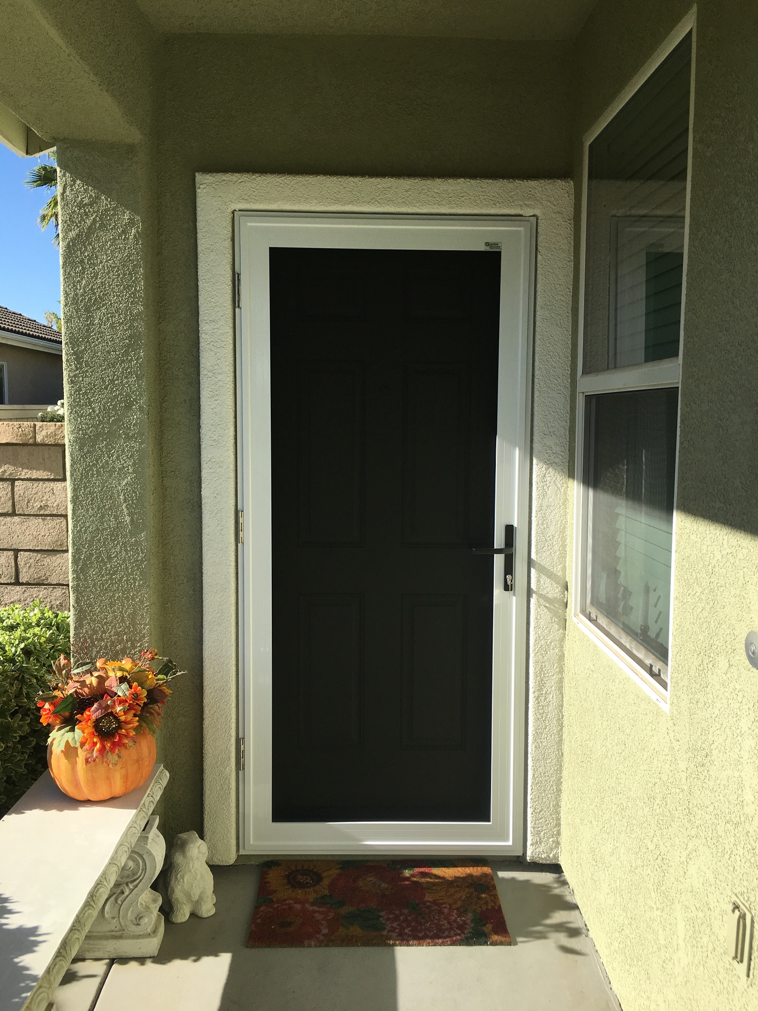 White Guarda premium security screen door installed in Ryland Oasis, Menifee 11/17/16 - 1