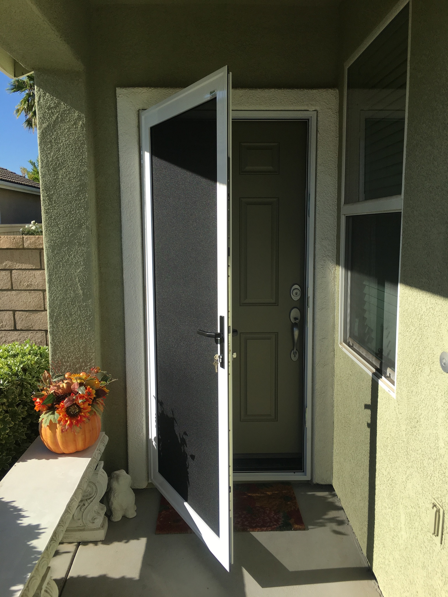 White Guarda premium security screen door installed in Ryland Oasis, Menifee 11/17/16 - 2