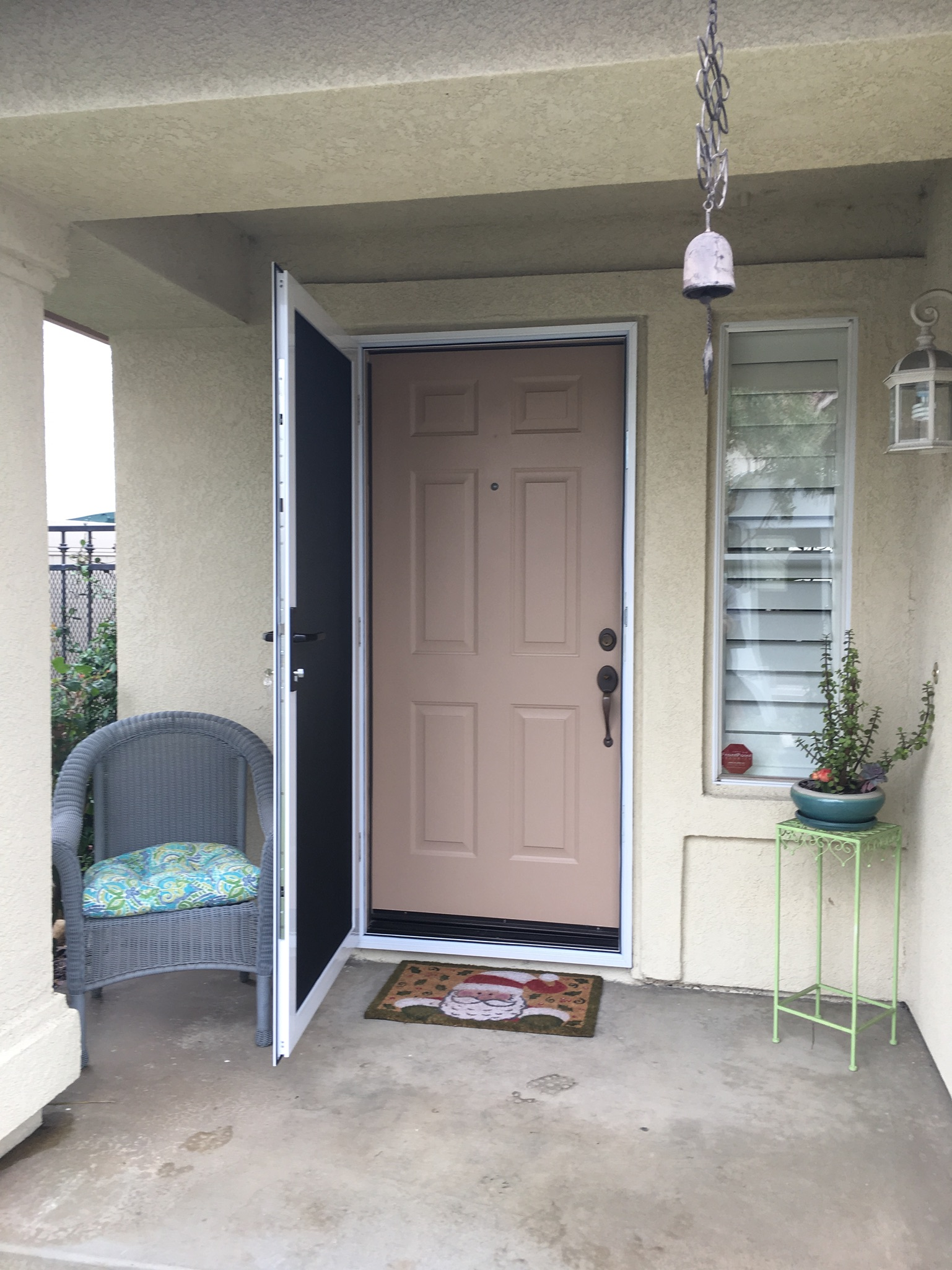 White 30x68 Guarda Premium Security Screen Door Riverside Ca