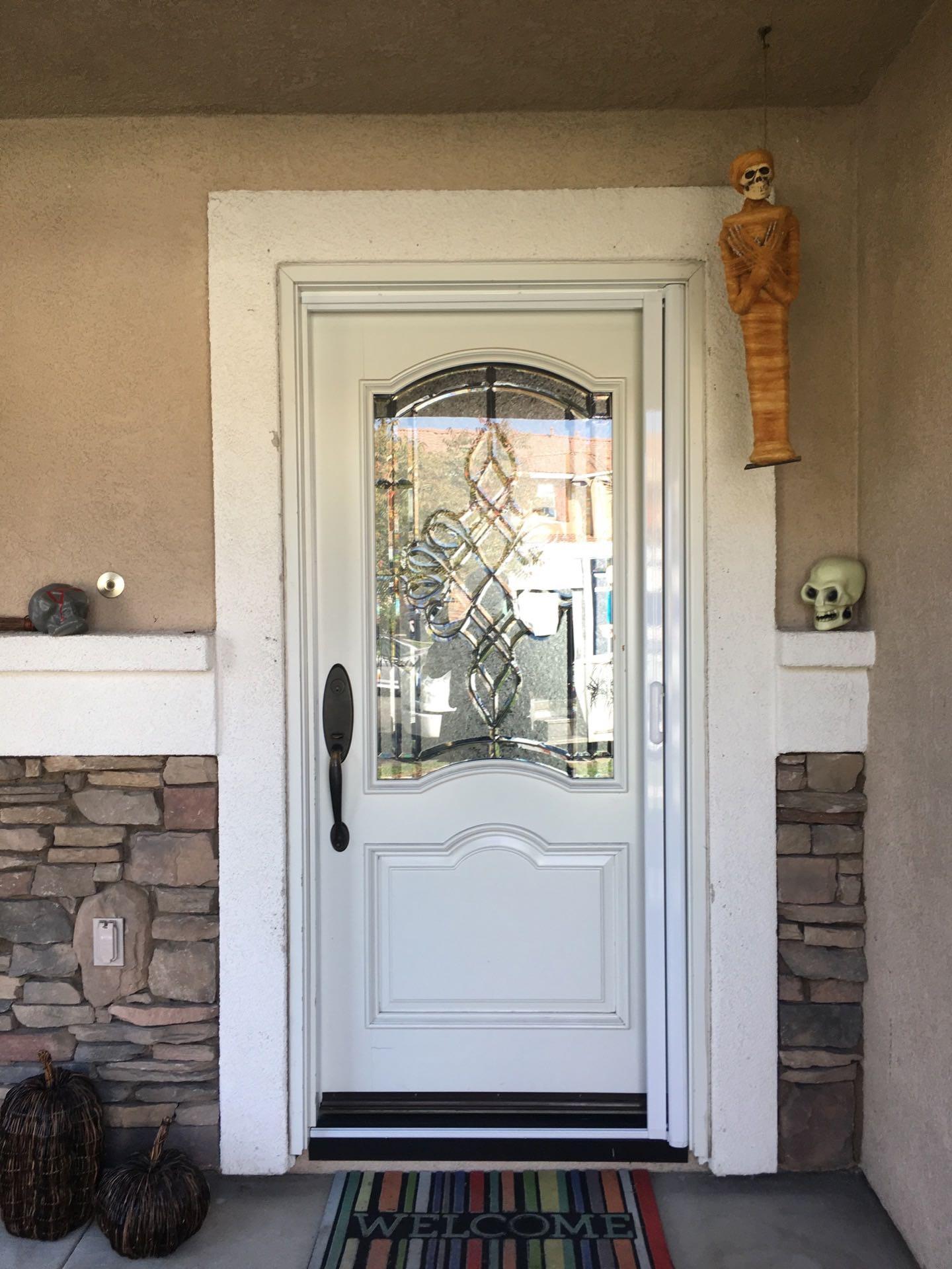 White Mirage Retractable Screen Door U2014 Corona, CA. Img_0032