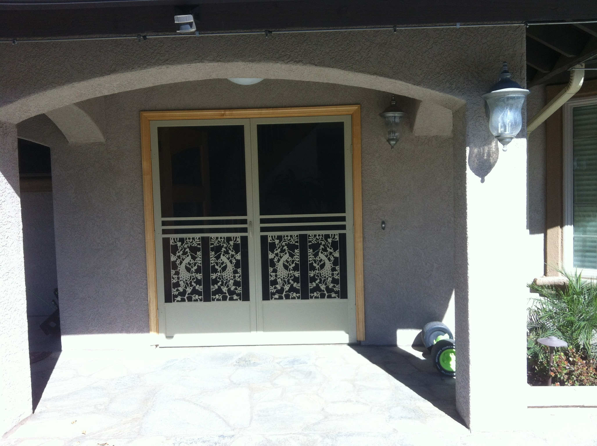 Tan El Dorado French Swinging Screen Doors Corona Ca Mobile