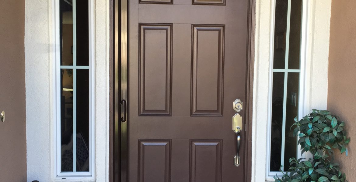 Single Tudor Brown Mirage Retractable Screen Door Installed In Ryland Oasis Menifee 11 8